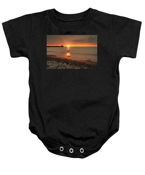 Sunset On Huron Lake Baby Onesie