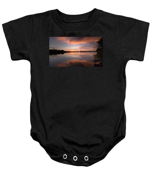 Sunset On The Lake Baby Onesie