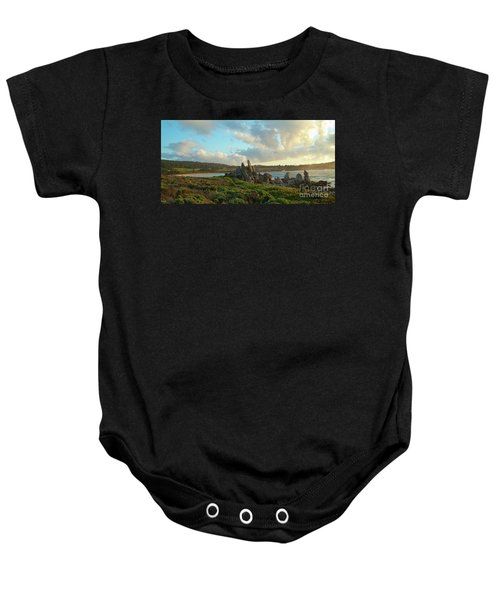 Sunset On The Pacific Ocean  Baby Onesie