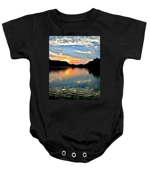 Sunset On The River Baby Onesie