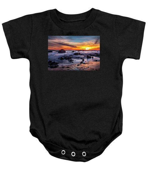 Sunset On The Rocks Baby Onesie