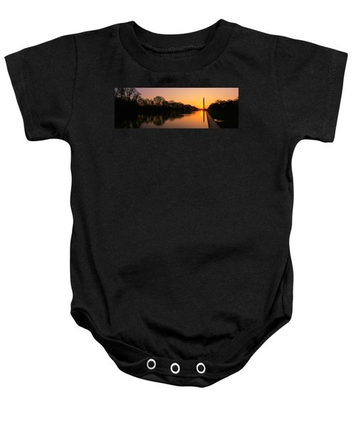 Sunset On The Washington Monument & Baby Onesie by Panoramic Images