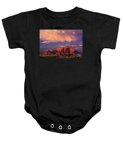 Sunset On West Temple Zion National Park Baby Onesie