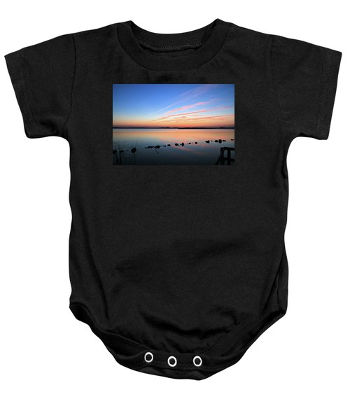 Sunset Over Back Bay National Wildlife Refuge Baby Onesie