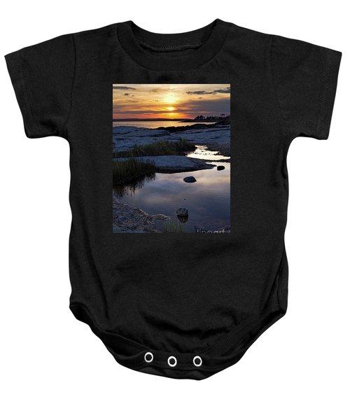 Sunset Over Boothbay Harbor Maine  -23095-23099 Baby Onesie