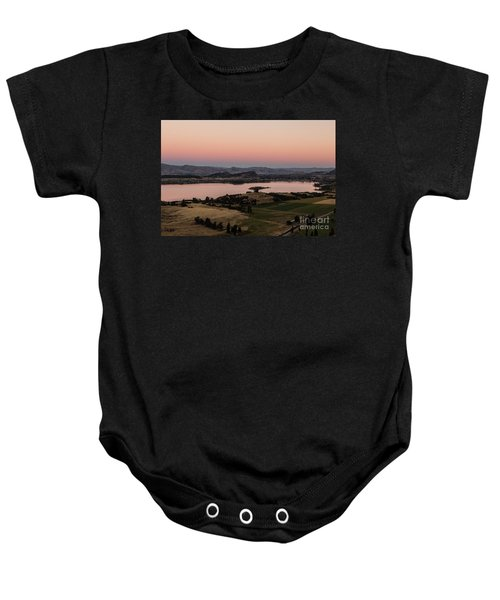 Sunset Over Lake Wanaka In New Zealand Baby Onesie