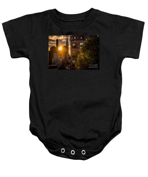 Sunset Over Manhattan New York City Baby Onesie