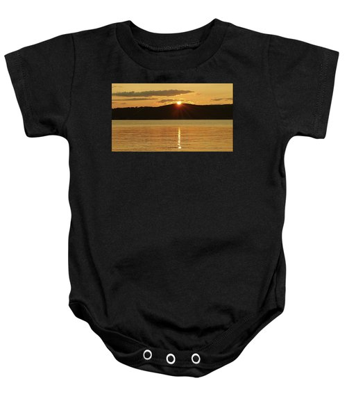Sunset Over Piermont Baby Onesie