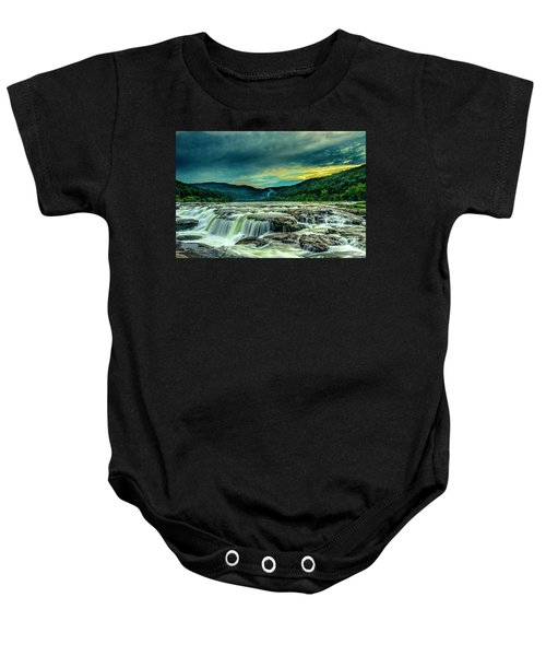 Sunset Over Sandstone Falls Baby Onesie