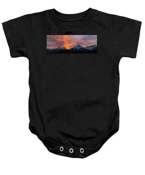 Sunset Over Tantalus Range Panorama Baby Onesie