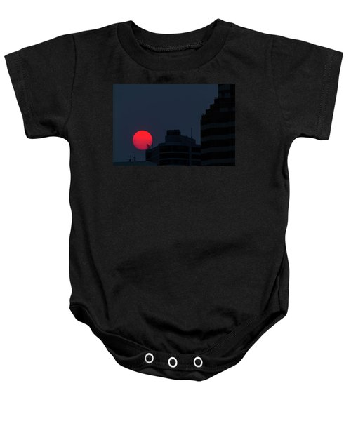 Sunset Over The City Of Portland Oregon Baby Onesie