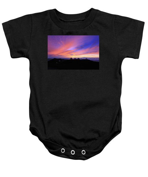 Sunset Over The Clouds Baby Onesie