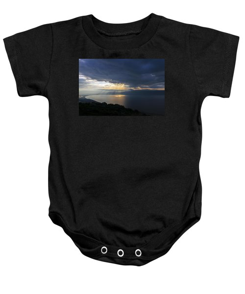 Sunset Over The Sea Of Galilee Baby Onesie