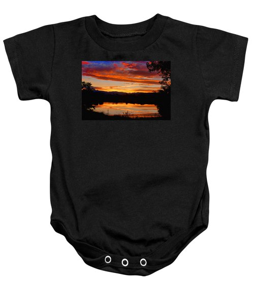 Sunset Reflections Baby Onesie