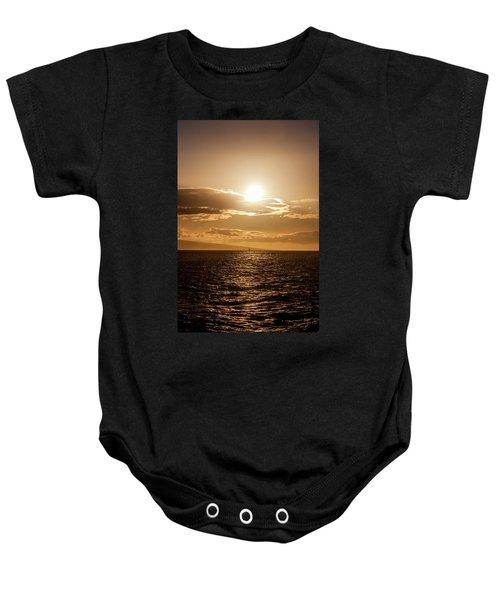 Sunset Sailboat Baby Onesie