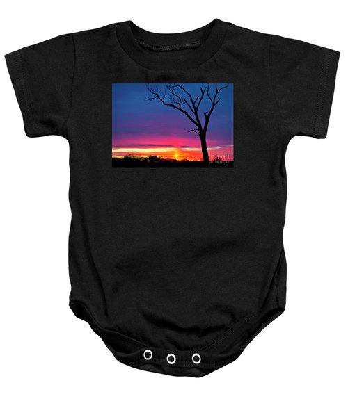 Sunset Sundog  Baby Onesie by Ricky L Jones