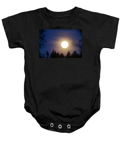 Super Full Moon Baby Onesie
