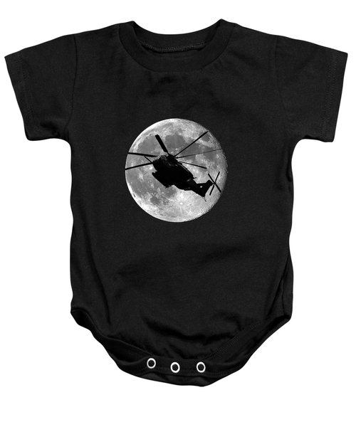 Super Stallion Silhouette .png Baby Onesie by Al Powell Photography USA