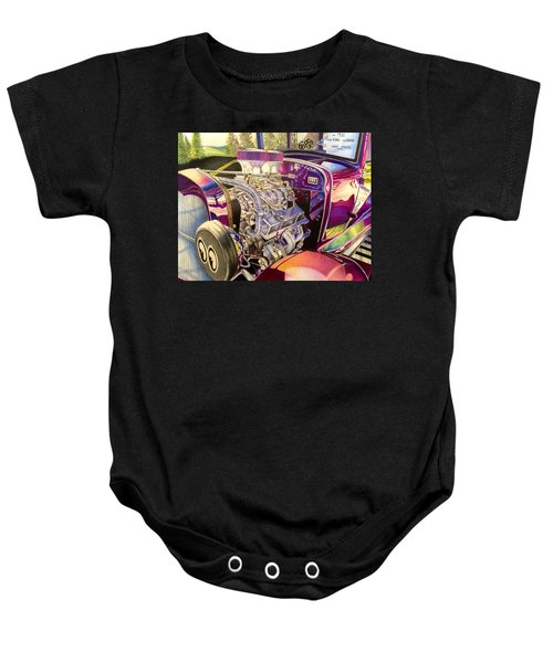Supercharged Antique 1931 Ford Coupe  Baby Onesie