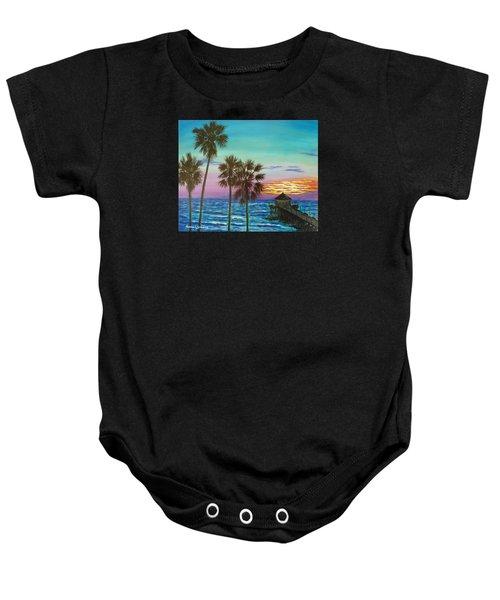 Surf City Sunset Baby Onesie