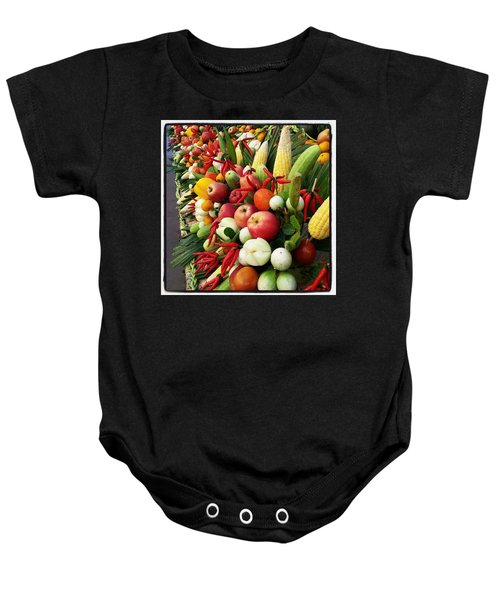 Baby Onesie featuring the photograph Surin Elephant Buffet by Mr Photojimsf