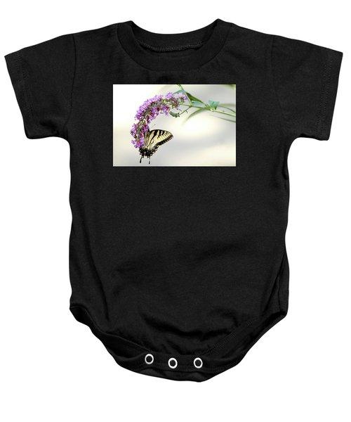 Swallowtail On Purple Flower Baby Onesie