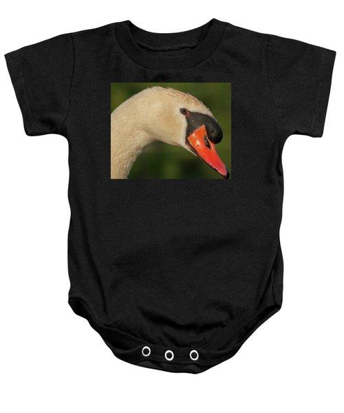 Swan Headshot Baby Onesie