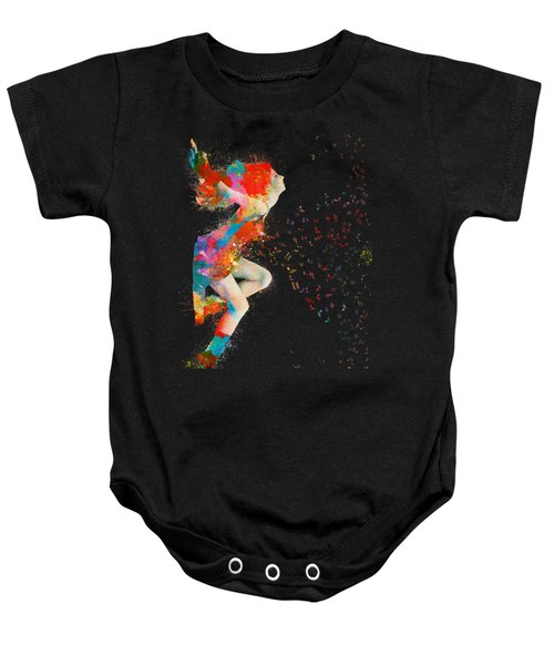 Sweet Jenny Bursting With Music Baby Onesie