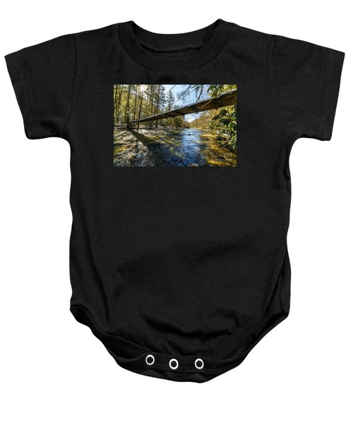 Swinging Bridge Back Fork Of Elk Baby Onesie