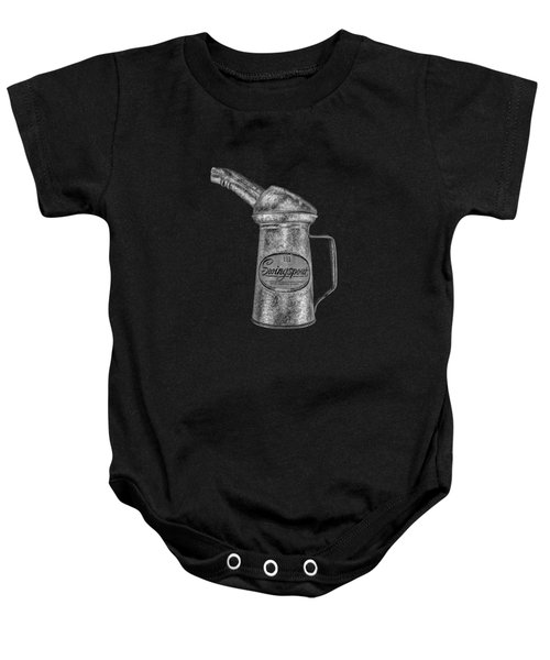 Swingspout Oil Can Bw Baby Onesie