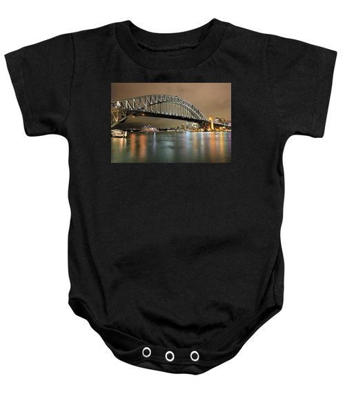 Sydney Harbour At Night Baby Onesie