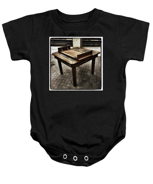 Baby Onesie featuring the photograph Table That Thought. This Beautiful by Mr Photojimsf