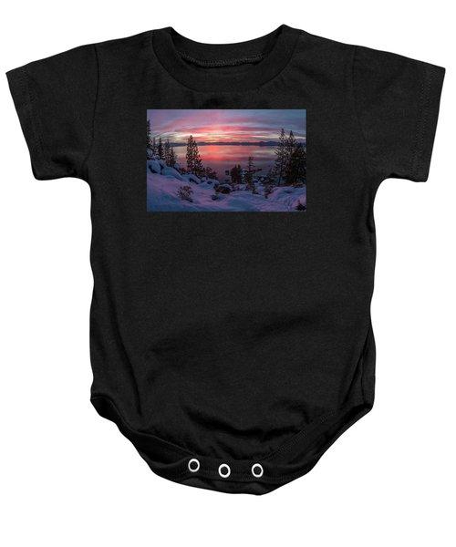Tahhhhhoe Sunset Baby Onesie