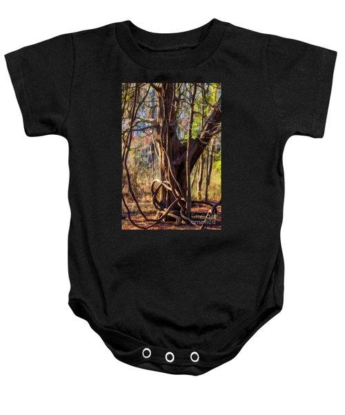 Tangled Vines On Tree Baby Onesie