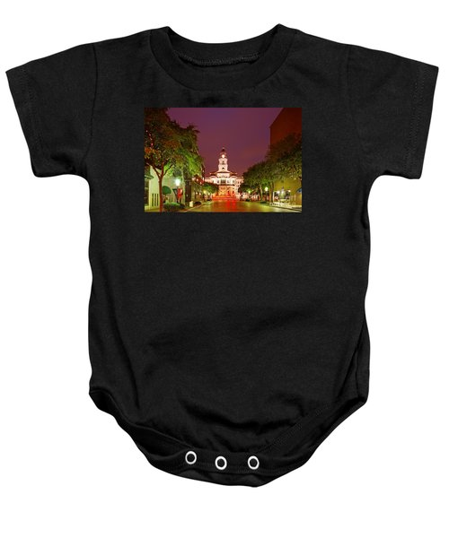 Tarrant County Courthouse At Twilight - Fort Worth North Texas Baby Onesie