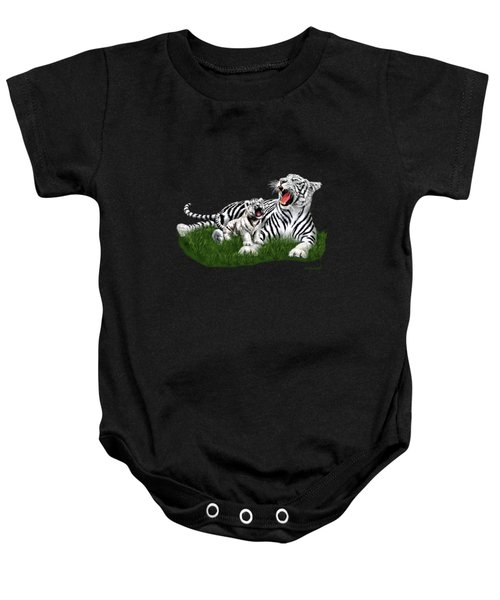Tiger Cub Learns To Roar Baby Onesie