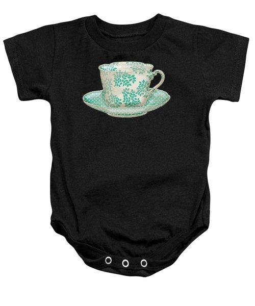 Teacup Garden Party 1 Baby Onesie