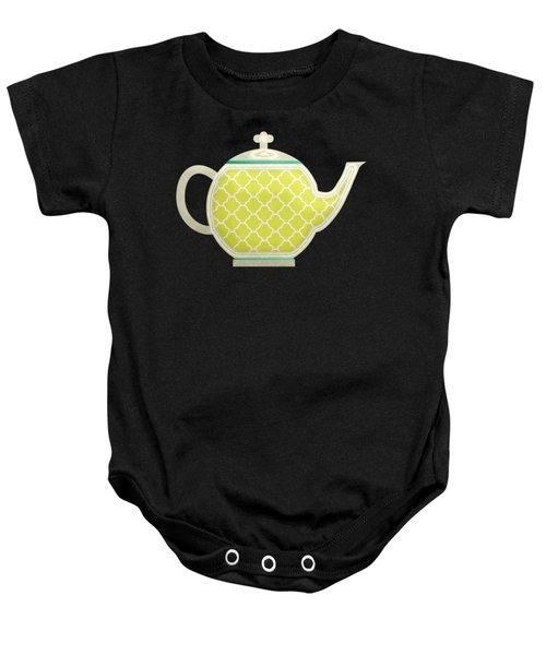 Teapot Garden Party 2 Baby Onesie