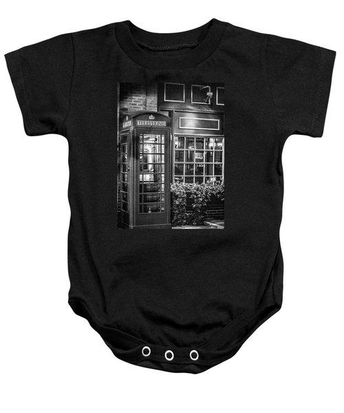 Telephone Booth Baby Onesie