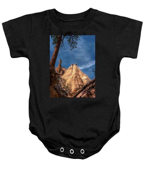 Tent Rock And Ponderosa Pine Baby Onesie