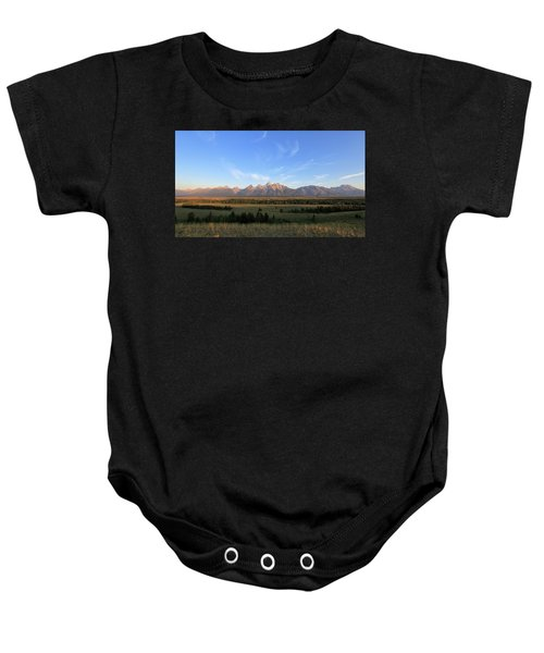 Teton Range After Sunrise Baby Onesie