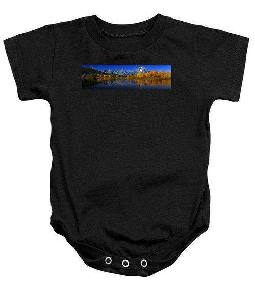 Tetons From Oxbow Bend Baby Onesie