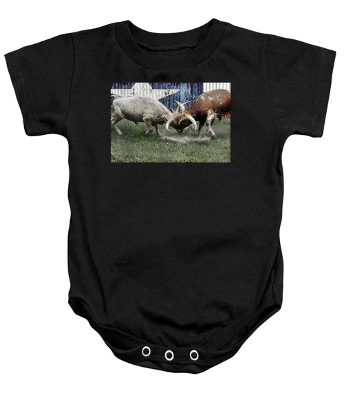 Texas Bull Fight  Baby Onesie