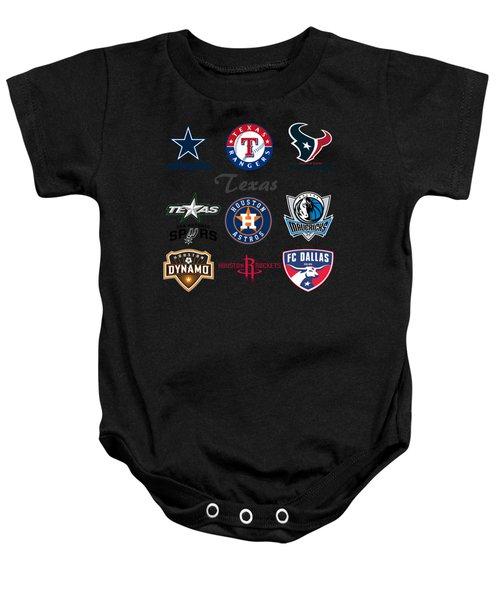 Texas Professional Sport Teams Baby Onesie