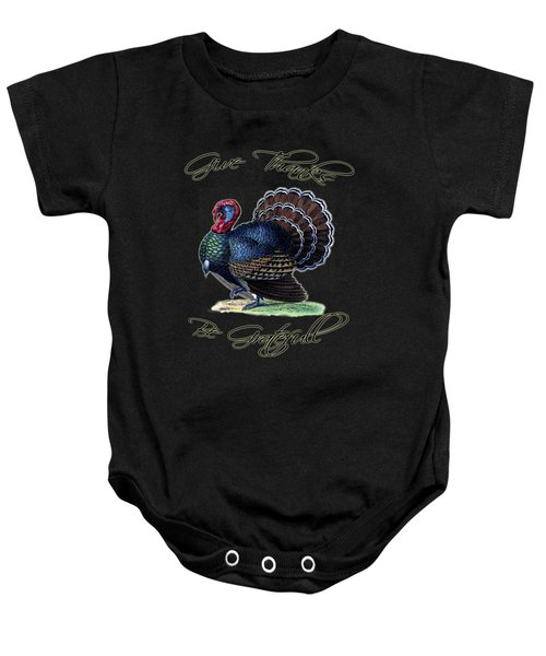 Thanksgiving Turkey Dictionary Art Baby Onesie