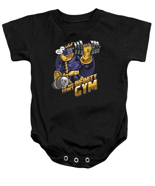 Thanos Comics Gym Workout  Baby Onesie