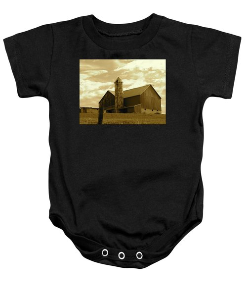 The Amish Silo Barn Baby Onesie