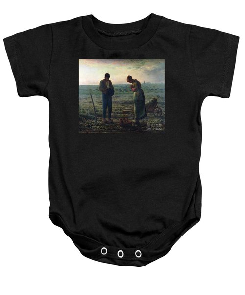 The Angelus Baby Onesie by Jean-Francois Millet