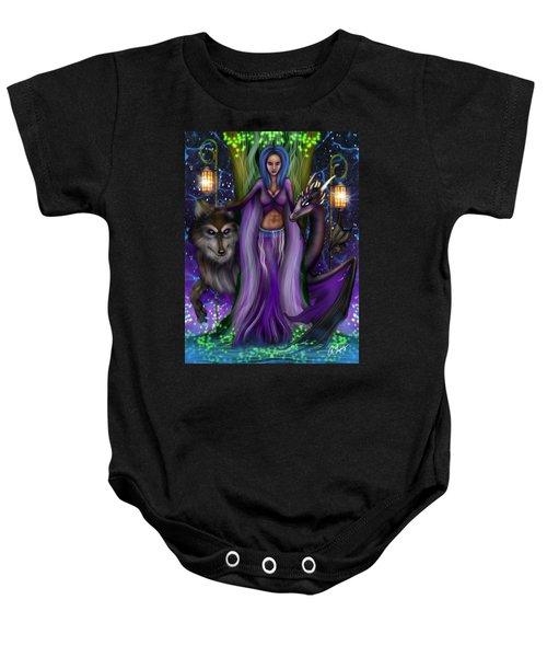 The Animal Goddess Fantasy Art Baby Onesie