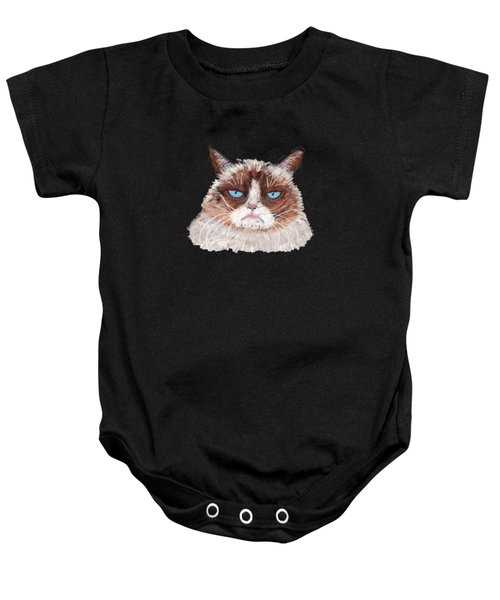 Baby Onesie featuring the painting The Answer Is No by Anastasiya Malakhova